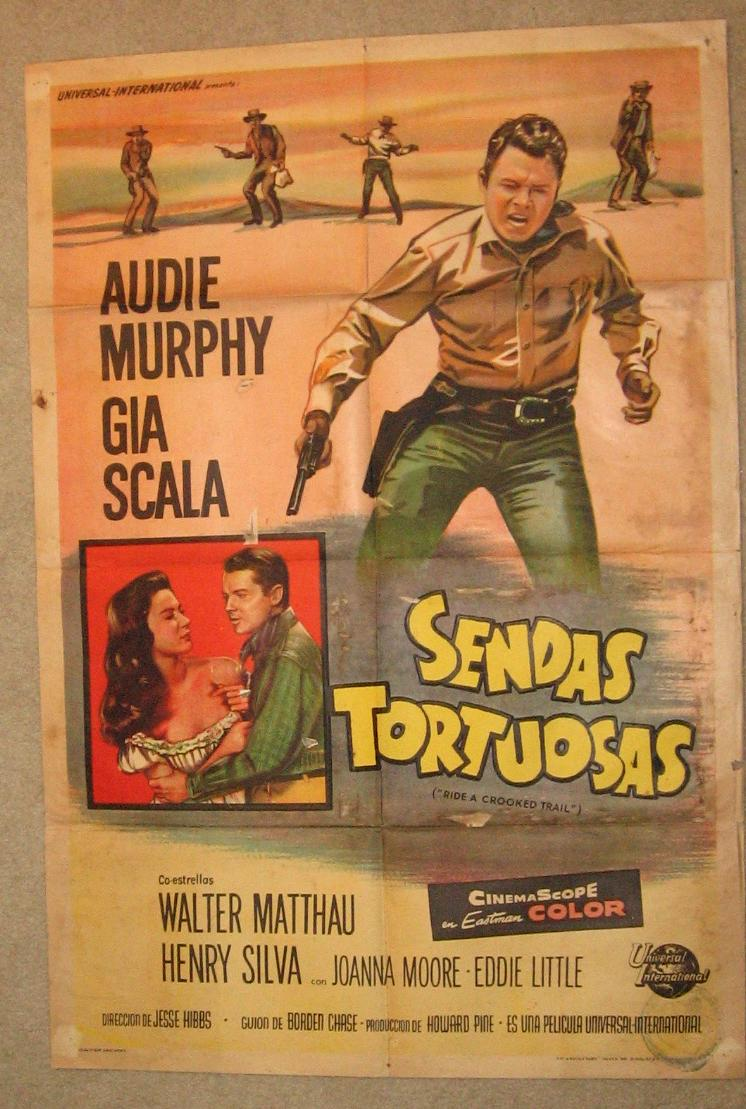 Audie Murphy Ride A Crooked Trail Poster